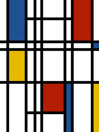mondrian inspired vibrant colors background