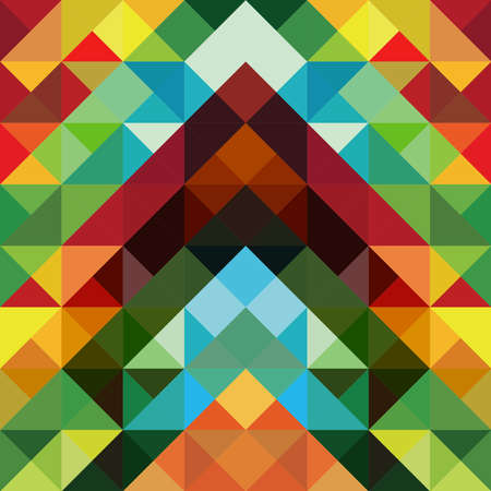 Abstract optic effect colorful triangle pattern background