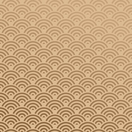 Ilustración de Elegant Oriental abstract wave design seamless pattern background. Vector illustration layered for easy manipulation and custom coloring. - Imagen libre de derechos