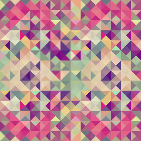 Colorful retro hipsters triangle seamless pattern illustration