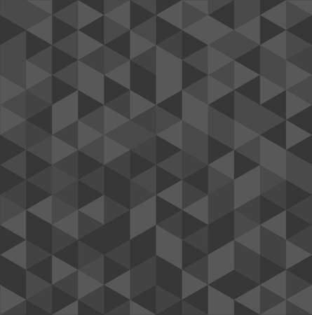 Unusual grey vintage abstract triangle seamless pattern background. Vector file layered for easy editing.