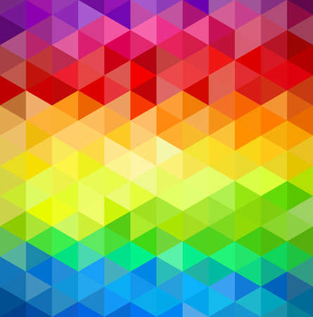 Trendy colorful vintage abstract triangle seamless pattern background.