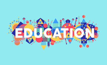 Illustration pour Creativity at education text concept colorful abstract elements composition. - image libre de droit