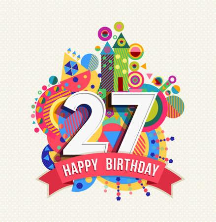 Happy Birthday twenty seven 27 year
