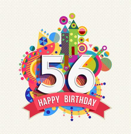 Happy Birthday fifty six 56 year