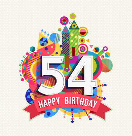 Happy Birthday fifty four 54 year