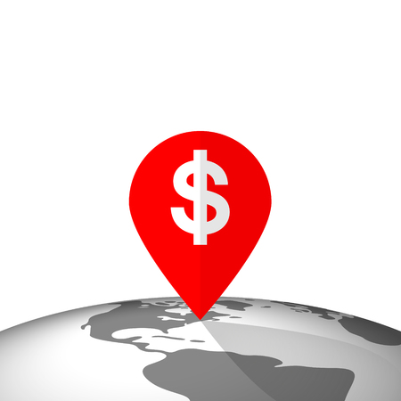 Location Pin Pointing a Profitable Place in the World