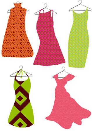color vector dresses