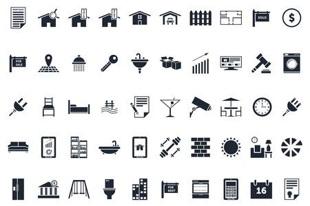 Ilustración de Professional Real Estate Icons Pack - Imagen libre de derechos