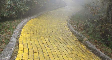 Yellow brick road, Beech Mountain, North Carolina