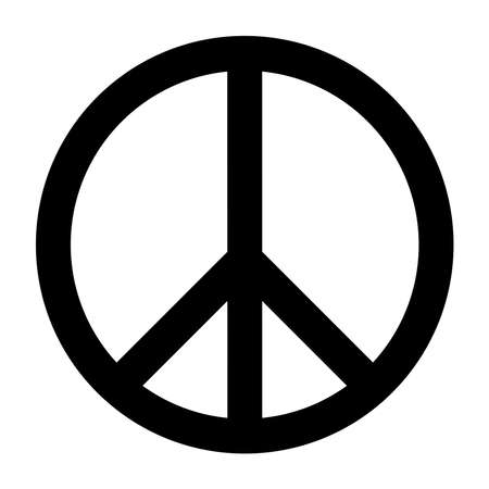 Illustration for Peace icon fill in black color - Royalty Free Image
