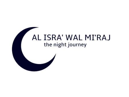 Illustration pour Isra' Mi'raj, the night journey - image libre de droit