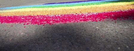 Foto per  Pietre colorati su strada - Immagine Royalty Free