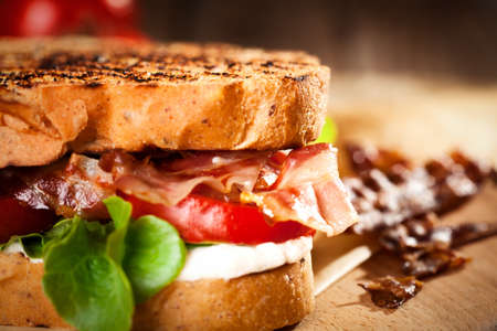 Photo for BLT sandwich with tomato and bacon - Royalty Free Image