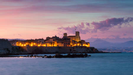 Cityscape of Antibes at suns