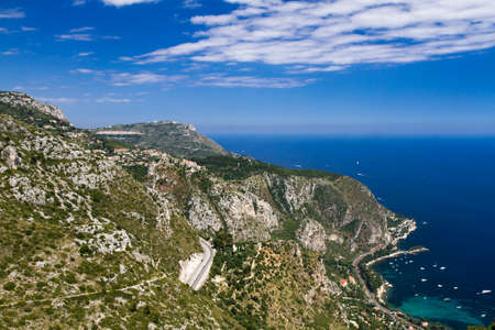 Lookout on the Grande Corniche, Provence, France