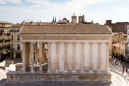 Roman temple of Nimes, Provence, France