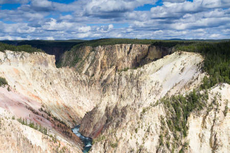 Yellowstone Canyon as seen from the Grand View lookout, Wyoming, USA