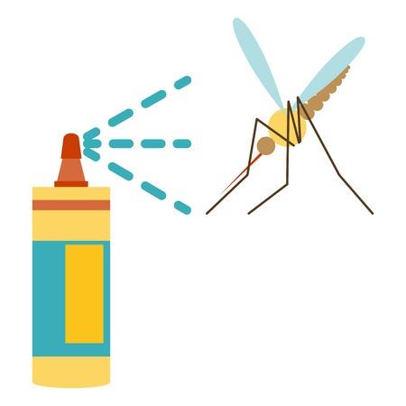 Flat design of repellent icon  mosquito and repellent
