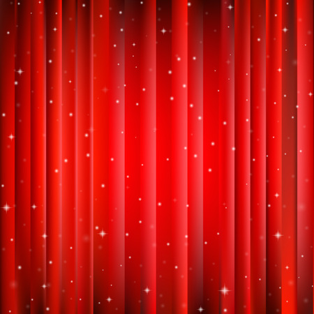 Abstract red Christmas background with bright center and snowflakes