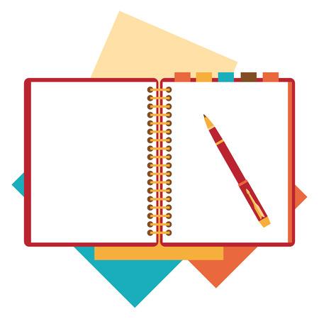 Illustration pour Flat design notepad, paper sheet. - image libre de droit