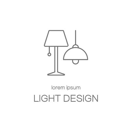 Light desigh house line icon logotype design templates. Modern easy to edit logo template. Vector logo design series.