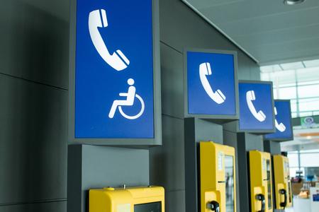 Public phone in airport