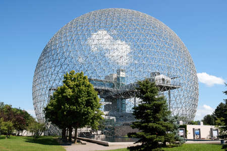 The geodesic dome called BiosphÚre is a museum in Montreal dedicated to water and the environment. It is located at Parc Jean-Drapeau, on Saint Helen