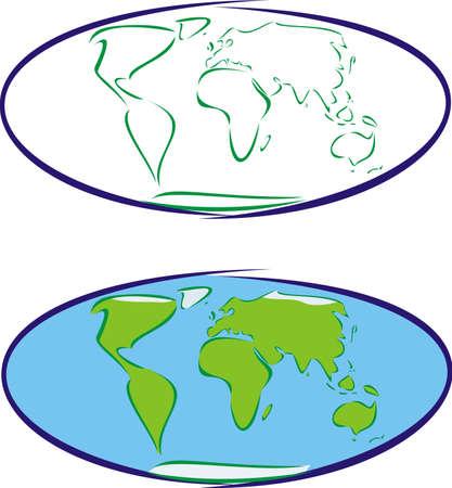 earth`s map