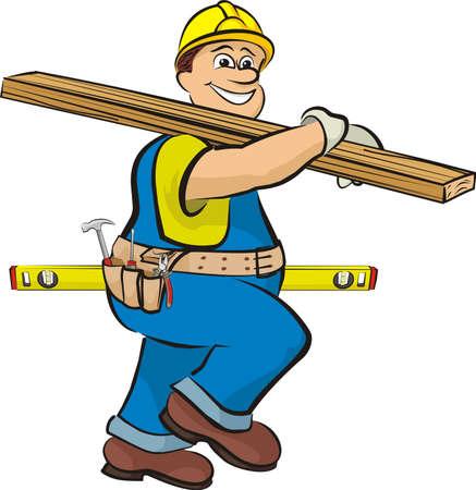 carpenter on the construction