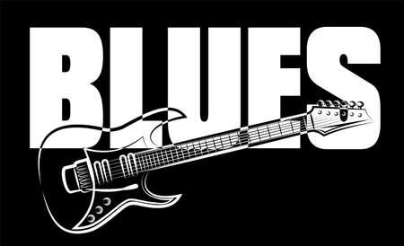 Illustration pour blues guitar - image libre de droit