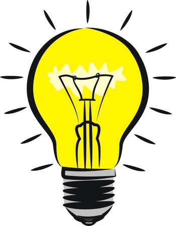 Ilustración de lighting bulb - idea metaphor - Imagen libre de derechos