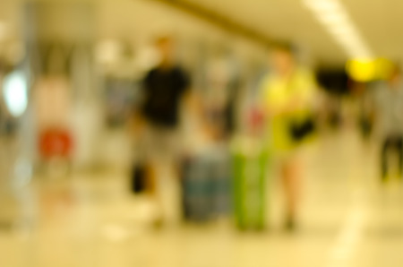 Abstract blurred airport terminal for background