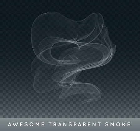 Realistic Cigarette Smoke or Fog or Haze with Transparency Isolated