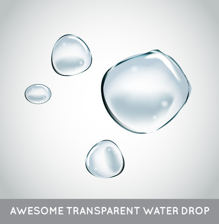 Illustration for Soap Water Bubbles Set. - Royalty Free Image