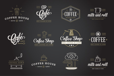 Set of Coffee Elements and Coffee Accessories Illustration