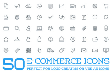 Illustration for Set of E-Commerce Icons - Royalty Free Image
