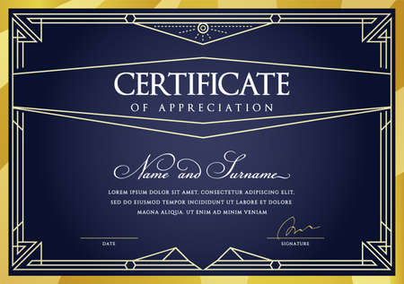 Illustration pour Template Diploma Currency Border. Certificate Award Gift Voucher. Vector illustration. - image libre de droit