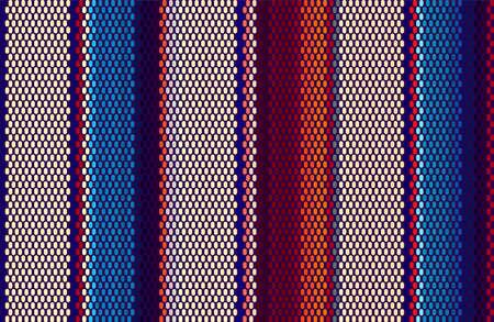 Illustration pour Blanket Stripes Seamless Vector Pattern. Cinco de Mayo. Serape Style. Ethnic Mexican Fabric Pattern. - image libre de droit