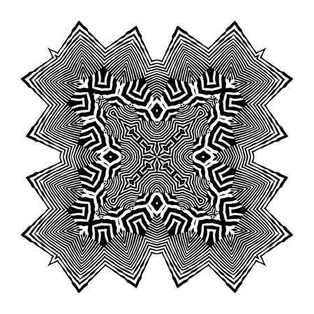 Illustration pour Stylish Mandala with Zebra Pattern. Vector. - image libre de droit