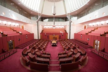 Inside Senate, the upper house of the bicameral Parliament of Australia