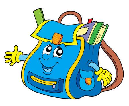 School bag on white background - vector illustration.