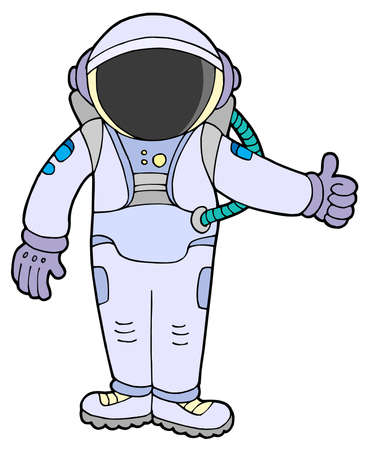 Astronaut on white background - vector illustration.