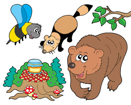 Forest animals collection 2 - vector illustration.