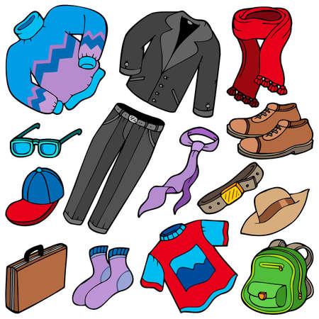 Men apparel collection - illustration.