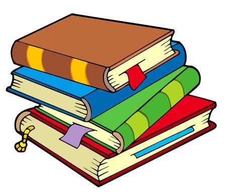 Illustration pour Pile of four old books - image libre de droit
