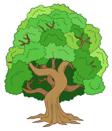 Illustration pour Green leafy tree - image libre de droit