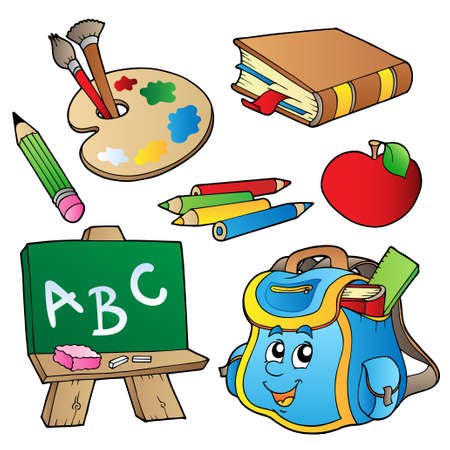 School cartoons collection -  illustration.