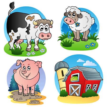Photo for Various farm animals 1 -  illustration. - Royalty Free Image
