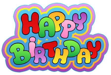 Happy birthday theme  - illustration.
